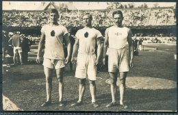 1912 Sweden Stockholm Olympics Official Postcard 186 Discus Taipale, Niklander, Magnusson - Olympic Games