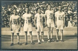 1912 Sweden Stockholm Olympics Official Postcard 192 The American Team, Winners Of The 3,000m Race. - Olympic Games