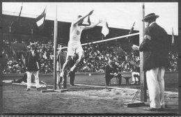 1912 Sweden Stockholm Olympics Official Postcard 203 Platt Adams USA Standing High Jump Winner - Olympic Games
