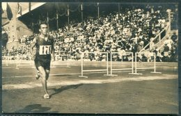 1912 Sweden Stockholm Olympics Official Postcard 211 Gitsham 2nd In Marathon - Olympic Games