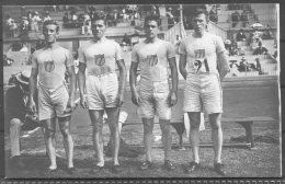 1912 Sweden Stockholm Olympics Official Postcard 215 USA Team - Winners Of The 1,600m Relay - Olympic Games