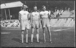 1912 Sweden Stockholm Olympics Official Postcard 216 Swedish Triple Jumpers Lindblom, Aberg & Almlof - Olympic Games