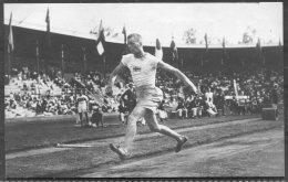 1912 Sweden Stockholm Olympics Official Postcard 219 Swedish Triple Jumper Winner G. Lindblom - Olympic Games