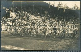 1912 Sweden Stockholm Olympics Official Postcard 233 Start Of The Cross Country Race - Olympic Games