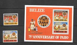 Belize Mi 377-378 + B3 MNH 1977 - Belize (1973-...)