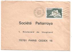OBLITERATION MECANIQUE DE NEUILLY SAINT JAMES HAUTS DE SEINE 1977 - Marcofilie (Brieven)
