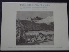 PONTRESINA Im ENGADIN (Grisons, Suisse) - Carte De Visite - SCHLOSS HÔTEL - A Voir ! - Cartes De Visite