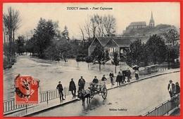 CPA 89 TOUCY Inondé Yonne - Pont Capureau * édition Godefroy - Toucy