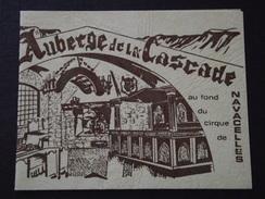 30 NAVACELLES - Carte De Visite - AUBERGE De La CASCADE - G. VERNAY, Propriétaire - A Voir ! - Cartes De Visite