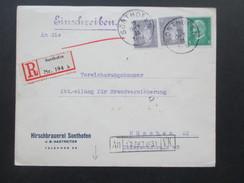 DR 1931 Einschreiben R Nr. 194 B Sonthofen. Hirschbrauerei Sonthofen J.B. Hastreiter. Nach München Mit Bahnpoststempel - Briefe U. Dokumente