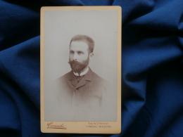 Photo CDV Camacho - Funchal Madeira - Portrait Homme Avec Barbe Bien Taillée Circa 1885 L314 - Anciennes (Av. 1900)