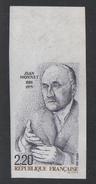 France Non Dentelé N° 2533 * (gomme Altérée Cote 28 €) Jean Monnet 1988 - Non Dentelés
