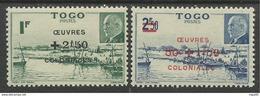 TOGO 1944 YT 226/227** SANS CHARNIERE NI TRACE - MNH - Togo (1914-1960)