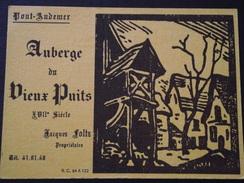 27 PONT-AUDEMER - Carte De Visite - AUBERGE Du VIEUX-PUITS - Jacques FOLTZ, Propriétaire - A Voir ! - Visiting Cards