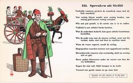 Vloeipapier Buvard Blotter 122 Spreuken Uit Sicilië - Buvards, Protège-cahiers Illustrés