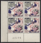 MONACO 1961 BLOC DE 4 TP  N° 556  NEUFS ** F21 - Mónaco
