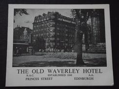 EDINBURGH (Edimbourg, Ecosse) - Carte De Visite - THE OLD WAWERLEY HOTEL - Princes Street - A Voir ! - Visiting Cards
