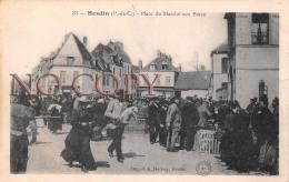 62 - Hesdin - Place Du Marché Aux Porcs - Hesdin