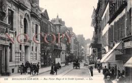 62 - Boulogne Sur Mer - Rue Victor Hugo Et Le Crédit Lyonnais - Boulogne Sur Mer