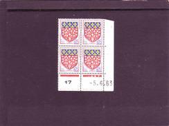 N°1352 - 0,05F Blason D'AMIENS - C De C+D - 2° Tirage Du 30.5.63 Au 19.6.63 - 5.06.1963 - - 1960-1969