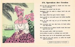 Vloeipapier Buvard Blotter 174 Spreuken Der Creolen - Buvards, Protège-cahiers Illustrés