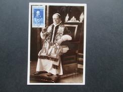 Vatikan 1937 Postkarte Michel Nr. 45 - 50 Und 52 + 54 - 57 Hoher Katalogwert! Bild Und Unterschrift Des Pabst. - Vatican