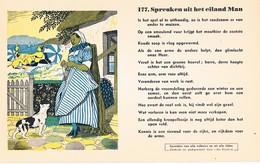 Vloeipapier Buvard Blotter 177 Spreuken Uit Het Eiland Man - Buvards, Protège-cahiers Illustrés