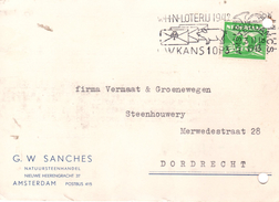 1943 Br.k.  Met Firmalogo  Van Amsterdam Naar Dordrecht - Poststempels/ Marcofilie