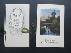 AK Ca. 1910er Jahre Glückwunschkarten Zur Verlobung! Blumen. Klappkarten - Marriages