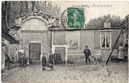 Porte De BAILLY - Entrée De La Foret - Garde Et Son Chien - Cachet Perlé De BAILLY        (97245) - Frankrijk