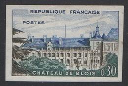 France Non Dentelé N° 1255 * (gomme Altérée) Château De Blois 1960 - Non Dentelés