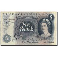 Grande-Bretagne, 5 Pounds, Undated (1963-71), KM:375b, TTB+ - 1952-… : Elizabeth II