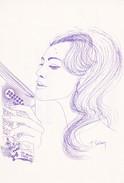 Abonnés à CARTES POSTALES ET COLLECTIONS--illustr.  HUGUETTE SAINSON----voir 2 Scans - Femmes