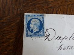 Lot Du 02.06.17_ 05_LAC Avec N°14 Superbe Nuance Bleu Metallique, De Evreux A Voir !! - 1853-1860 Napoléon III.