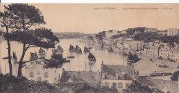Bg - Carte Panorama AUDIERNE - Vue Générale Prise De La Montagne (format 14 X 28 Cm) - Audierne