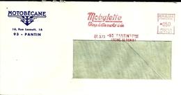 Lettre Enveloppe Ema Motobecane Mobylette   B /967 - Marcophilie (Lettres)