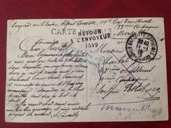 Marseille Capucines 114e Tarritorial Pour SP 49 Retour à L'envoyeur - Oorlog 1914-18