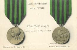 MILITARIA  Médaille 1870.71 Aux Défenseurs De La Patrie     2 Scans - Patriotiques