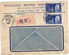 REC - L62 - France N° 842 Abbaye De Saint-Wandrille Sur Lettre Commerciale Recommandée 1949 - France