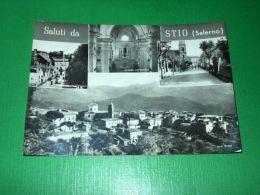 Cartolina Saluti Da Stio ( Salerno ) - Vedute Diverse 1963 - Salerno