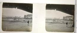 7 MARS 1911 Plaque Photo AVIATION Grand Prix Michelin Aviation BIPLAN FARMER Clermont-Ferrand - Plaques De Verre