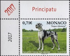 MONACO 2017  -Y.T. N° 3068 / EXPOSITION CANINE INTERNATIONALE 2017 - NEUF ** - Monaco