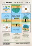 BRAZIL Brazilian Trees - Natural Treasures Sheet With Tree Bark On Back 2011 - Unused Stamps