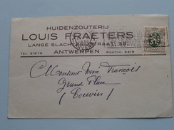Huidenzouterij LOUIS FRAETERS Lange Slachterijstraat 38 ANTWERPEN - Anno 1930 ( Zie Foto Details ) !! - Commerce