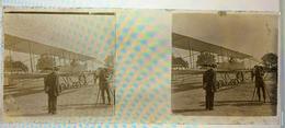 TRES RARE ! 7 MARS 1911 Plaque Photo AVIATION Grand Prix Michelin Aviation André Michelin - Plaques De Verre