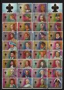 AJMAN Mi-Nr. 1470 - 1503 Königinnen Und Könige Von Frankreich Gestempelt - Adschman