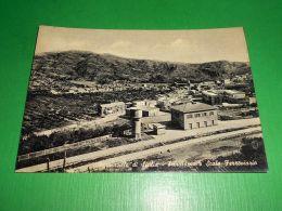 Cartolina Francavilla Di Sicilia - Panorama E Scalo Ferroviario 1955 Ca - Messina