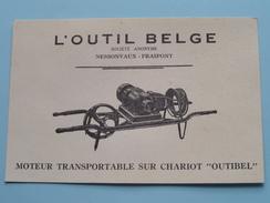 """L'OUTIL BELGE Moteur Transportable Sur Chariot """" OUTIBEL """" NESSONVAUX - FRAIPONT / Anno 19?? ( Zie Foto Details ) !! - Commerce"""