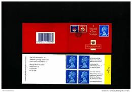 GREAT BRITAIN - 4 X 2nd Class  (Walsall)  BRIGHT BLUE  OLYMPIC  BOOKLET MINT NH  HA 5 - Booklets