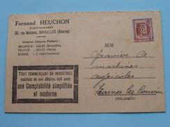 Fernand HEUCHON Expert-Comptable BRUXELLES Rue Melsens (Bourse) Anno 1923 ( Zie Foto Details ) !! - Commerce